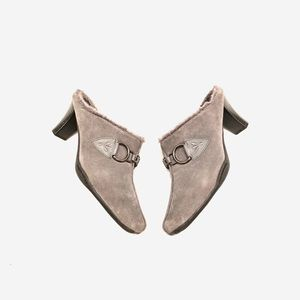 "Aerosoles | Suede Fur Mules ""Cinchilla"""